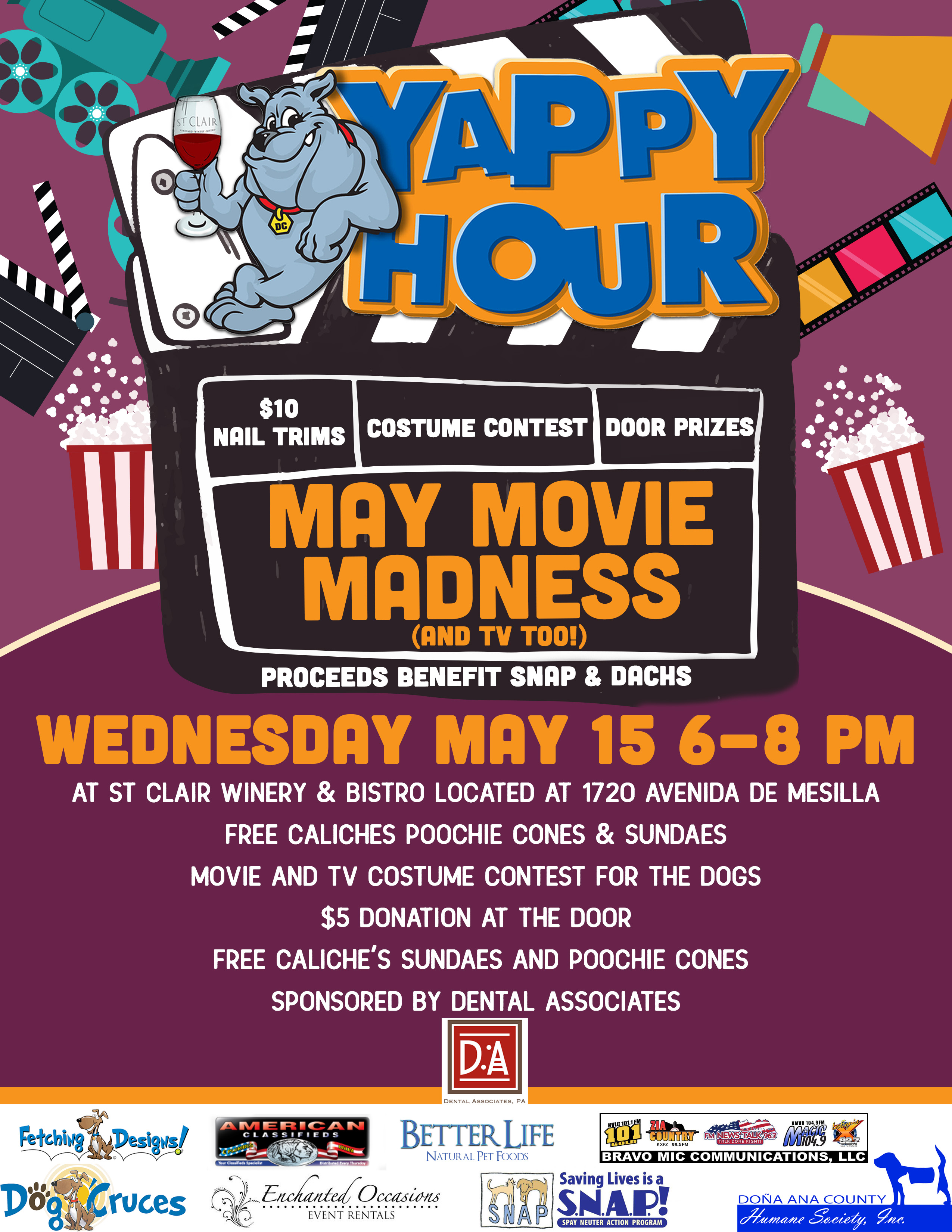 Yappy Hour! May Movie Madness (and TV Too) - Dog'Cruces